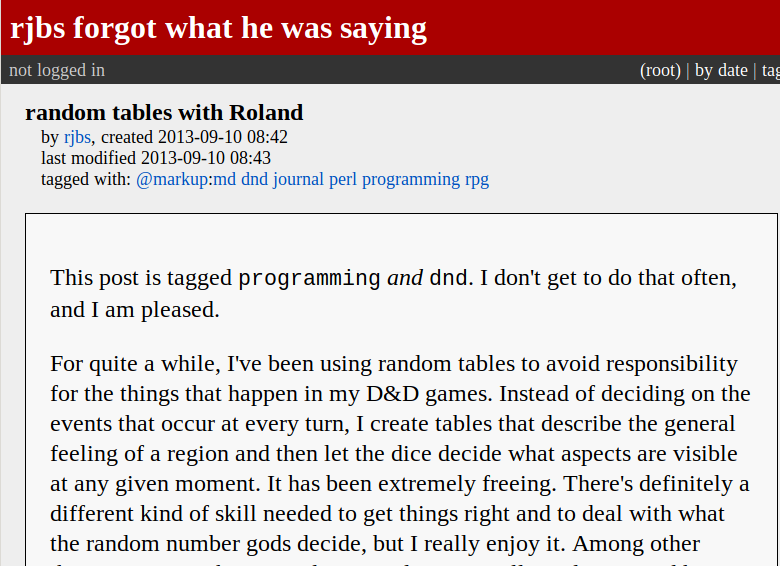 screenshot of roland blog post